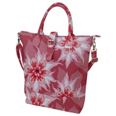Flower Leaf Nature Flora Floral Buckle Top Tote Bag by Sapixe