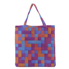 Squares Background Geometric Modern Grocery Tote Bag