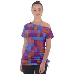 Squares Background Geometric Modern Tie Up Tee by Sapixe