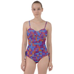 Squares Background Geometric Modern Sweetheart Tankini Set