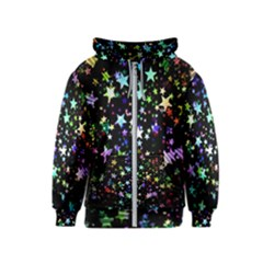 Christmas Star Gloss Lights Light Kids  Zipper Hoodie