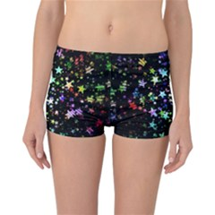 Christmas Star Gloss Lights Light Reversible Boyleg Bikini Bottoms