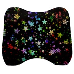 Christmas Star Gloss Lights Light Velour Head Support Cushion by Sapixe