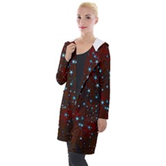 Background Christmas Decoration Hooded Pocket Cardigan by Sapixe