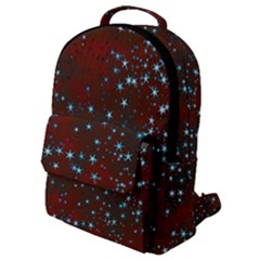 Background Christmas Decoration Flap Pocket Backpack (small)