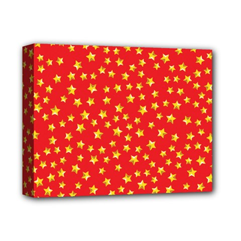 Pattern Stars Multi Color Deluxe Canvas 14  X 11  (stretched) by Sapixe