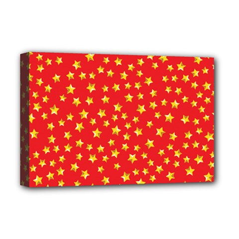 Pattern Stars Multi Color Deluxe Canvas 18  X 12  (stretched) by Sapixe