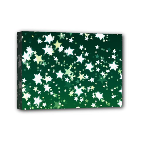 Christmas Star Advent Background Mini Canvas 7  X 5  (stretched) by Sapixe