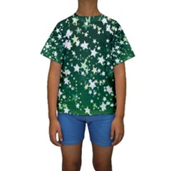 Christmas Star Advent Background Kids  Short Sleeve Swimwear by Sapixe