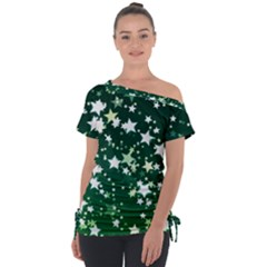 Christmas Star Advent Background Tie Up Tee