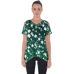 Christmas Star Advent Background Cut Out Side Drop Tee by Sapixe