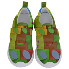 Easter Egg Happy Easter Colorful Velcro Strap Shoes by Sapixe