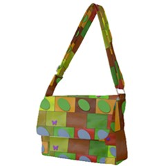 Easter Egg Happy Easter Colorful Full Print Messenger Bag