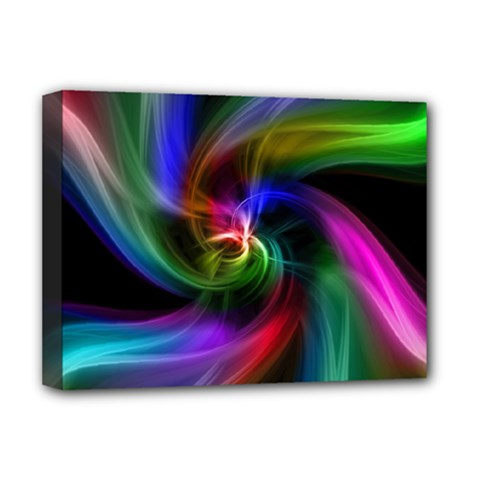Abstract Art Color Design Lines Deluxe Canvas 16  X 12  (stretched)