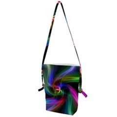 Abstract Art Color Design Lines Folding Shoulder Bag
