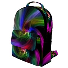 Abstract Art Color Design Lines Flap Pocket Backpack (small)