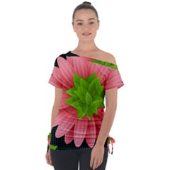 Plant Flower Flowers Design Leaves Tie Up Tee by Sapixe