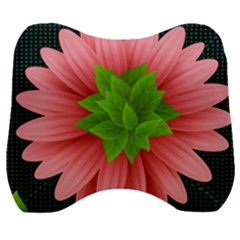Plant Flower Flowers Design Leaves Velour Head Support Cushion by Sapixe