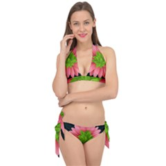 Plant Flower Flowers Design Leaves Tie It Up Bikini Set by Sapixe