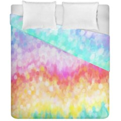 Rainbow Pontilism Background Duvet Cover Double Side (california King Size)