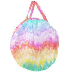 Rainbow Pontilism Background Giant Round Zipper Tote