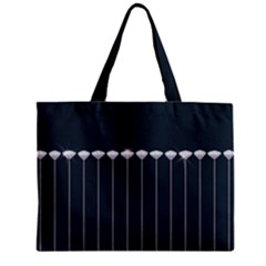 Pinstripe In Diamond Head Pins Pattern Zipper Mini Tote Bag by emilyzragz