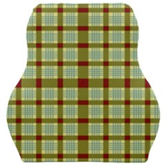 Geometric Tartan Pattern Square Car Seat Velour Cushion  by Sapixe