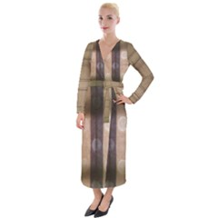 Blind Morning Velvet Maxi Wrap Dress