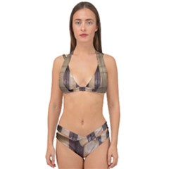 Blind Morning Double Strap Halter Bikini Set