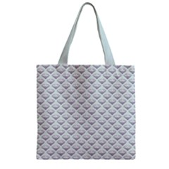 Sparkly Diamond Pattern Zipper Grocery Tote Bag