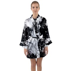 Moon And The Stars Pattern Long Sleeve Kimono Robe