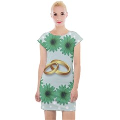 Rings Heart Love Wedding Before Cap Sleeve Bodycon Dress