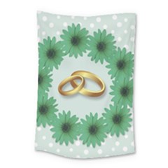 Rings Heart Love Wedding Before Small Tapestry