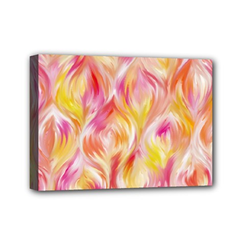 Pretty Painted Pattern Pastel Mini Canvas 7  X 5  (stretched) by Sapixe