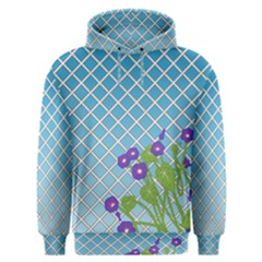 Morning Glory Argyle (blue Sky) Pattern Men s Overhead Hoodie by emilyzragz