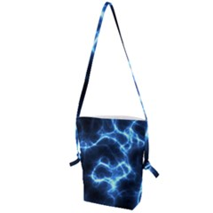 Electricity Blue Brightness Bright Folding Shoulder Bag by Sapixe