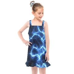 Electricity Blue Brightness Bright Kids  Overall Dress