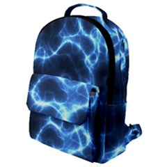 Electricity Blue Brightness Bright Flap Pocket Backpack (small) by Sapixe