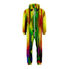 Abstract Vibrant Colour Botany Hooded Jumpsuit (kids) by Sapixe