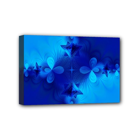 Background Course Gradient Blue Mini Canvas 6  X 4  (stretched)