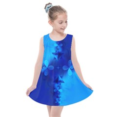 Background Course Gradient Blue Kids  Summer Dress