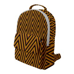 Chevron Brown Retro Vintage Flap Pocket Backpack (large) by Sapixe