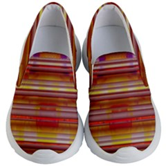 Abstract Stripes Color Game Kid s Lightweight Slip Ons by Sapixe