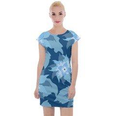 Graphic Design Wallpaper Abstract Cap Sleeve Bodycon Dress