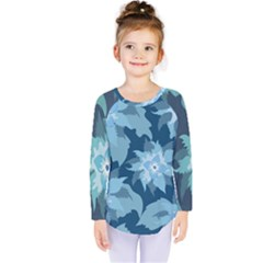 Graphic Design Wallpaper Abstract Kids  Long Sleeve Tee by Sapixe