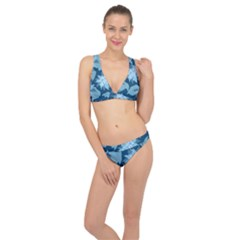 Graphic Design Wallpaper Abstract Classic Banded Bikini Set