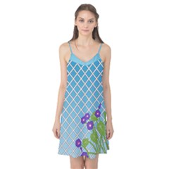 Morning Glory Argyle (blue Sky) Pattern Camis Nightgown by emilyzragz