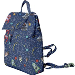 Cat Cosmos Cosmonaut Rocket Buckle Everyday Backpack