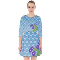 Morning Glory Argyle (blue Sky) Pattern Smock Dress by emilyzragz