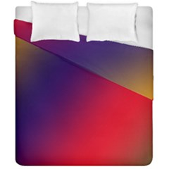 Rainbow Two Background Duvet Cover Double Side (california King Size)